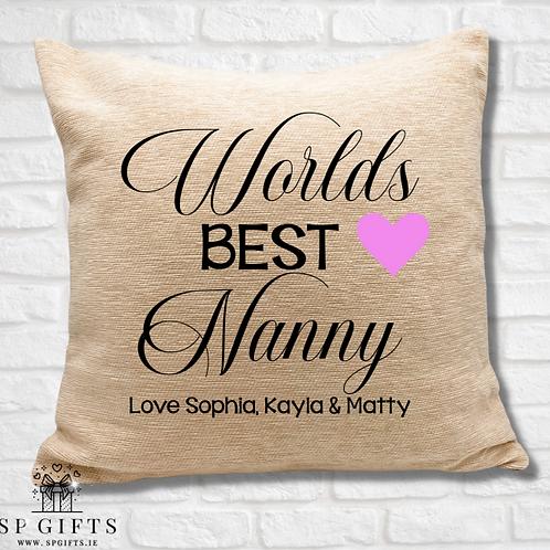 Worlds Best Nanny Cushion