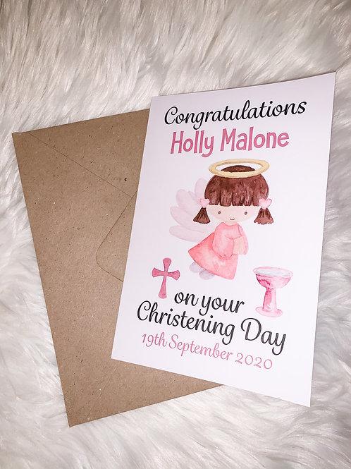 Girls Christening Card