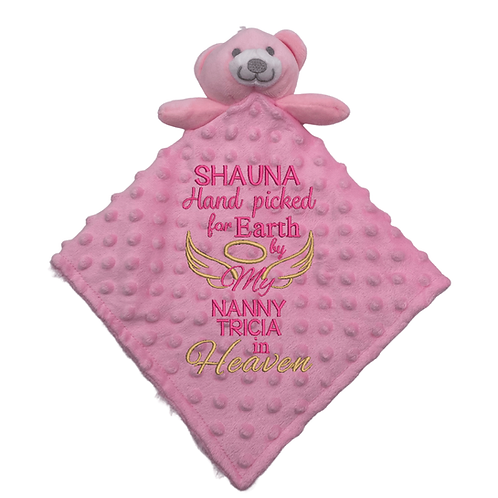 Hand Picked for Earth Soft Double Sided Baby Comforter Pink