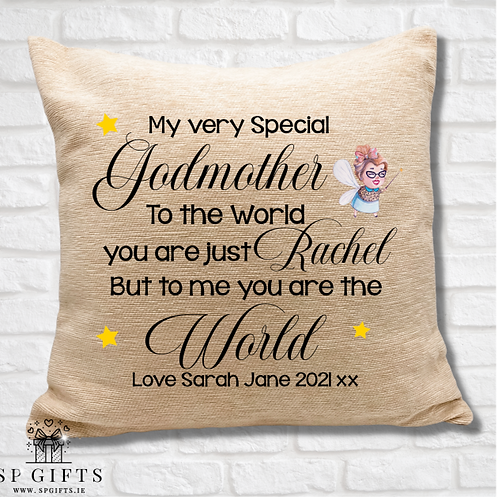 Godmother - To the world Cushion