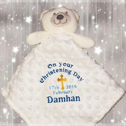 Personalised Christening Comforter