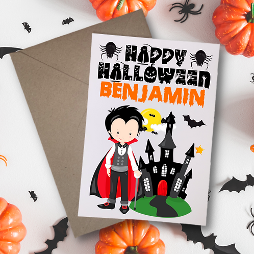 Vampires Halloween Card