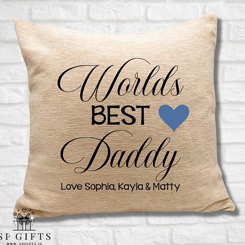 Worlds Best Daddy Cushion