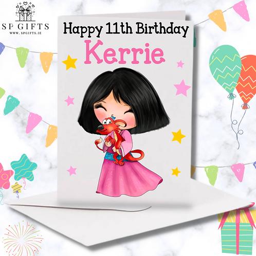 Princess C Birthday Card