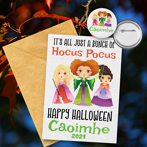 Its Just a Bunch of Hocus Pocus Card & Badge