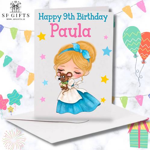 Princess H Birthday Card