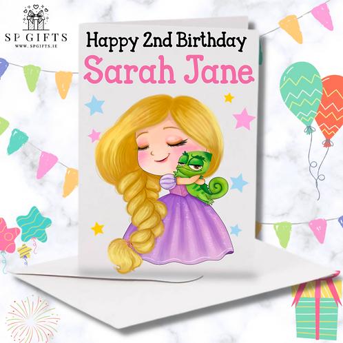 Princess K Birthday Card