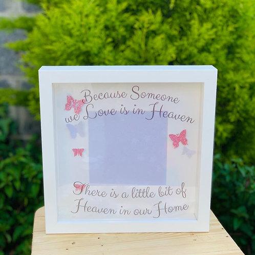 Pink Butterfly Heaven Frame