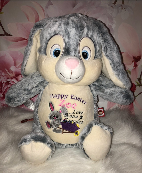 Happy easter message grey bunny sp gifts personalised gifts happy easter message grey bunny sp gifts personalised gifts co dublin negle Images