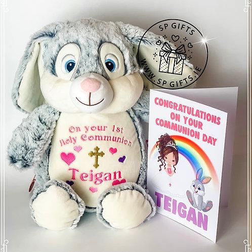 Communion/Confirmation Clovis Hampton Bunny & Card