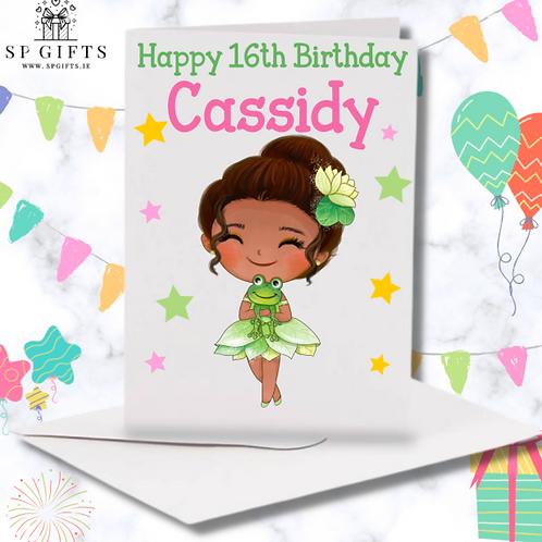Princess L Birthday Card