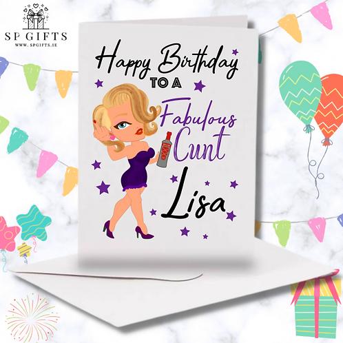 Fabulous C**T Birthday Card