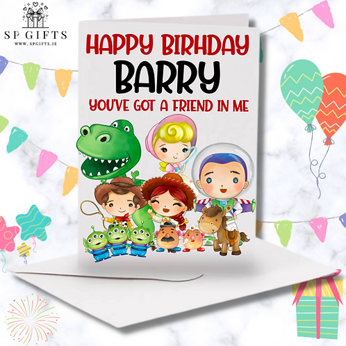 Toy Story Personalised Birthday Card