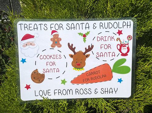 Personalised Laminated Christmas Santa  Place Mat