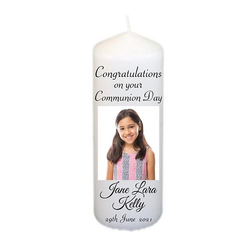 Photo Communion Candle