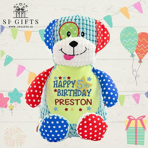 Birthday - Harlequin Sensory Dog