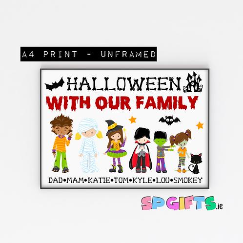 Personalised Family  Halloween print