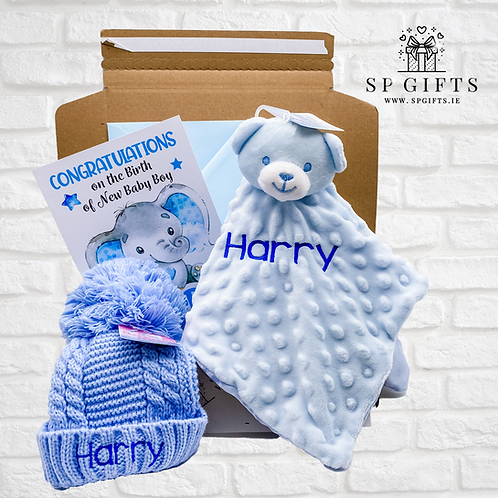 Blue - FREE HAT - Dimple Bear Comforter Delivery Box