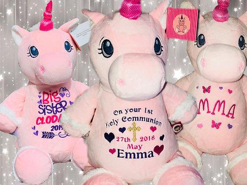 Personalised Pink Unicorn