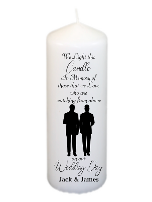 Silhouette Couple 203 Memorial Candle