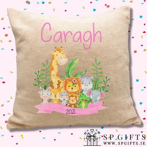 Girls Safari Cushion