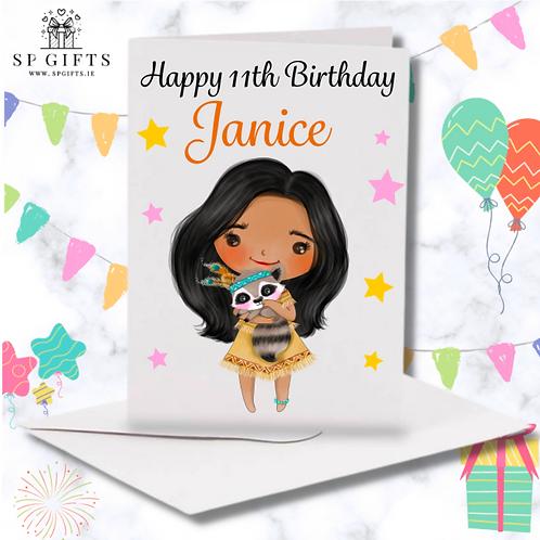 Princess B Birthday Card