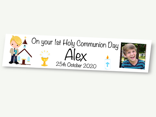 Boys Communion Banner