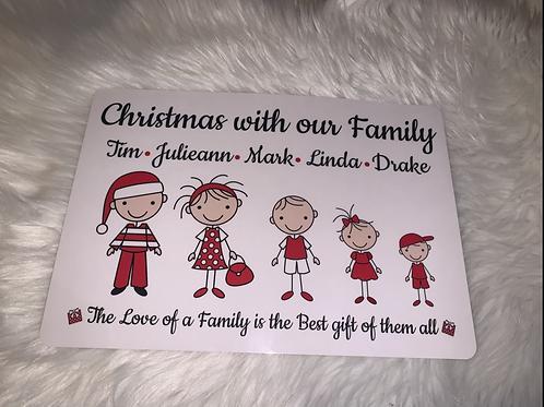Christmas Family a4 Print