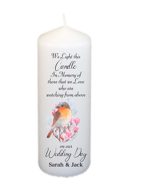 Robins Memorial Candle