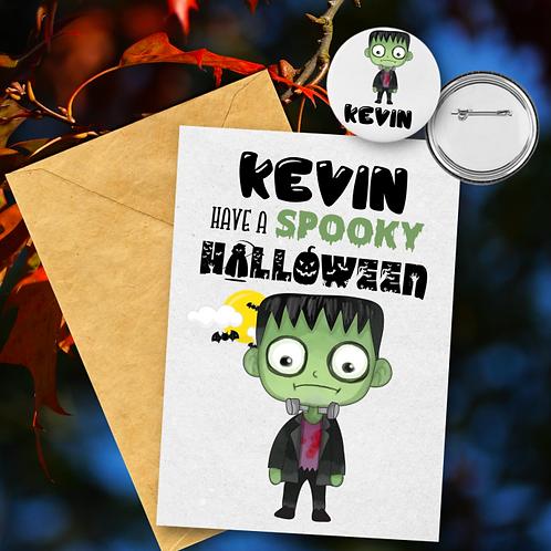 Frankenstein Card & Badge Set