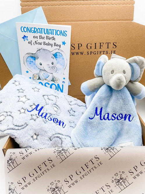 Elephant Delivery Box - Blue