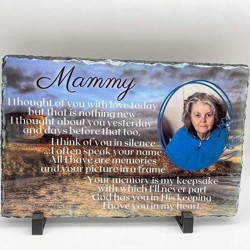 Large Memorial slate 20 x 30cm