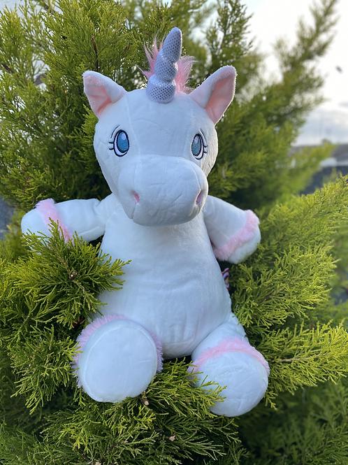 Personalised White Cubbie Unicorn