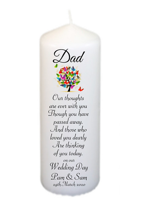 Butterfly Tree Memorial Candle