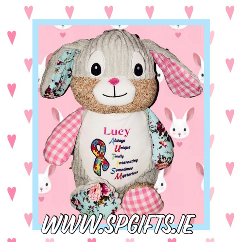 Autism awareness bunny sp gifts personalised gifts co dublin negle Images