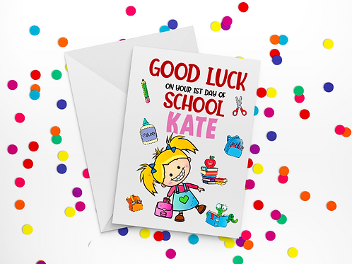 First Day of School Card E