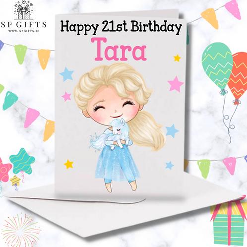 Princess M Birthday Card