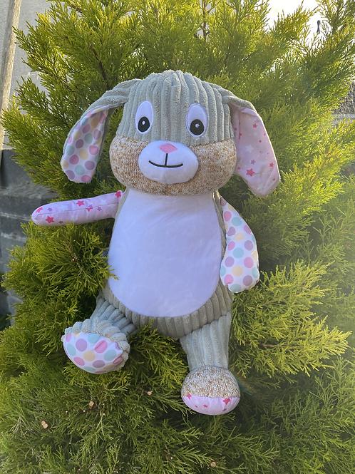 Personalised Pink Stary Night Sensory Bunny