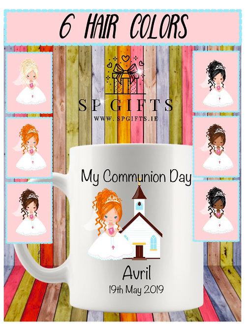 Personalised Girls Communion Mug