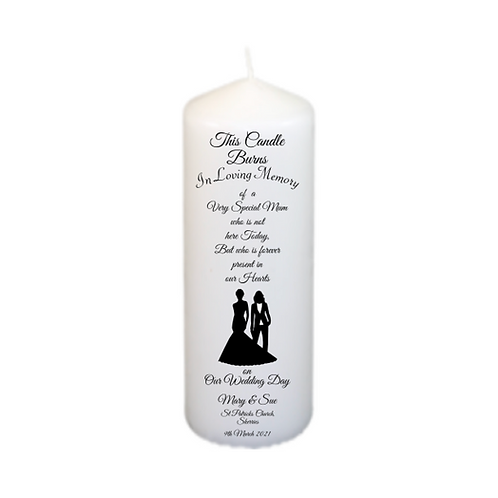 Silhouette Couple 204 Memorial Candle