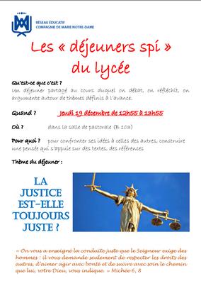"""Déjeuner Spi"" du lycée"