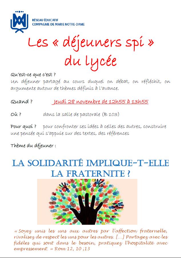 Affiche Déjeuner Spi 28/11/19