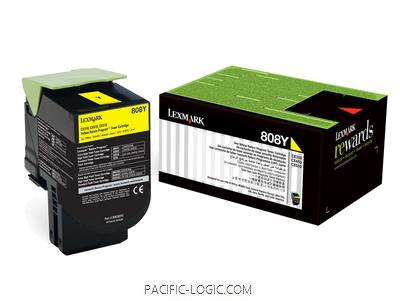 80C80Y0 - 808Y Yellow Return Toner Cartridge