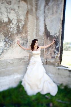 bridal editorial trash the dress