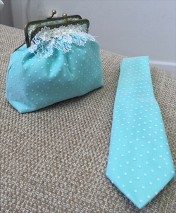 Grooms Tie with Matching Bridal Bag