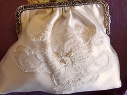 Custom Bridal Bag to match Gown