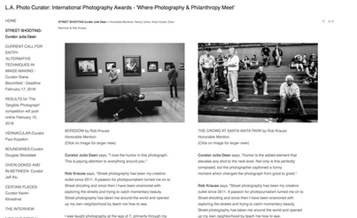Honorable Mentions in the LA Photo Curator Street Photography Contest