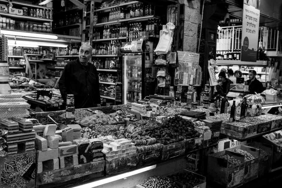 Man Selling Candy in Jerusalem Market