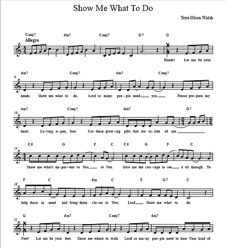 """Show Me What To Do"" Sheet Music and Audio Tracks"