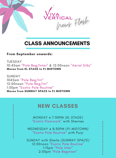 New Classes | Teacher Trainings | Taster Classes